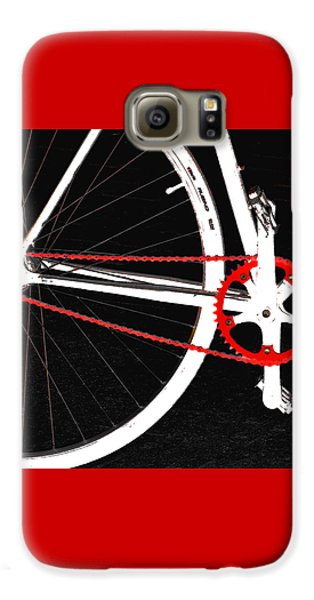 Bike In Black White And Red No 2 Galaxy S6 Case