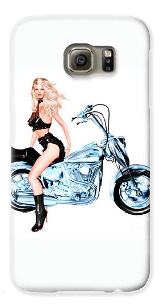 Luxmaris Galaxy S6 Case - Biker Girl by Renate Janssen