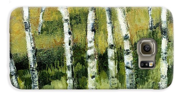 Birches On A Hill Galaxy S6 Case by Michelle Calkins