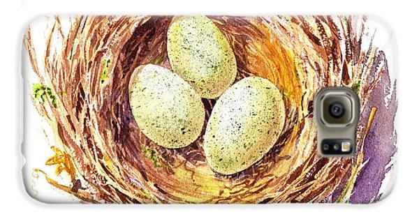 Bird Nest A Happy Trio Galaxy S6 Case