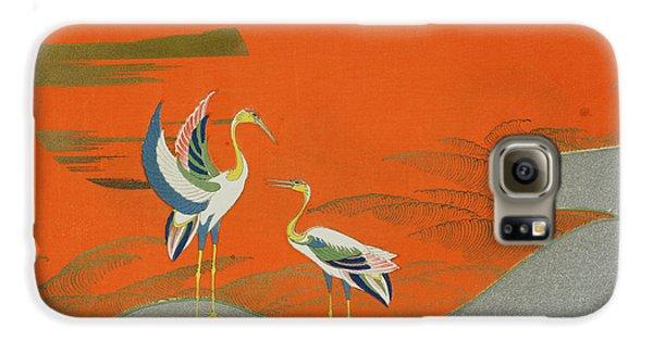 Birds At Sunset On The Lake Galaxy S6 Case by Kamisaka Sekka