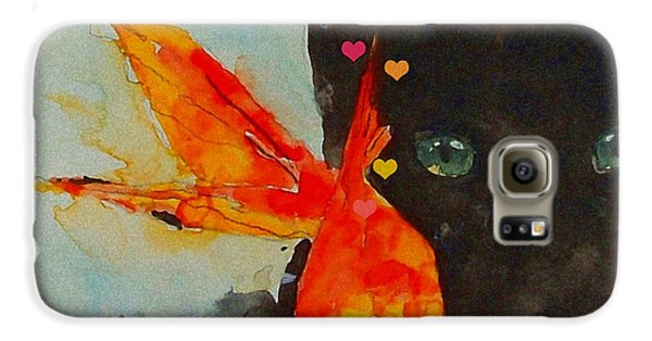 Goldfish Galaxy S6 Case - Black Cat And The Goldfish by Paul Lovering