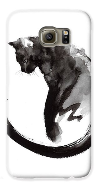 Black Cat Galaxy S6 Case by Mariusz Szmerdt