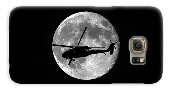 Helicopter Galaxy S6 Case - Black Hawk Moon by Al Powell Photography USA