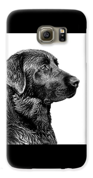 Black Labrador Retriever Dog Monochrome Galaxy S6 Case