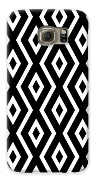 Beach Galaxy S6 Case - Black And White Pattern by Christina Rollo