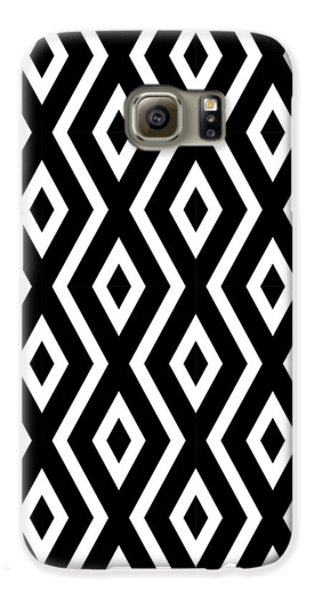 Black And White Pattern Galaxy S6 Case by Christina Rollo