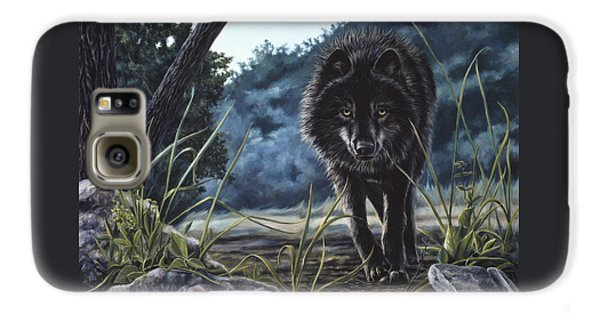 Black Wolf Hunting Galaxy S6 Case