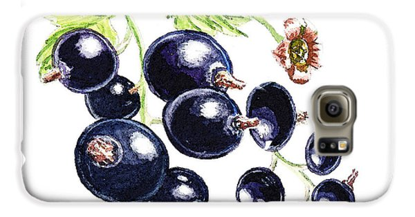 Galaxy S6 Case featuring the painting Blackcurrant Berries  by Irina Sztukowski