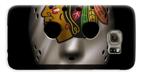 Blackhawks Jersey Mask Galaxy S6 Case by Joe Hamilton