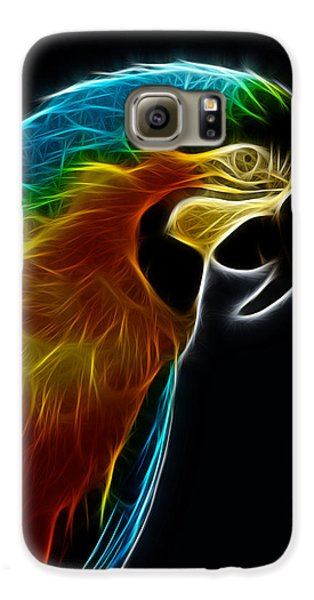 Blue And Gold Macaw Frac Galaxy S6 Case by Bill Barber