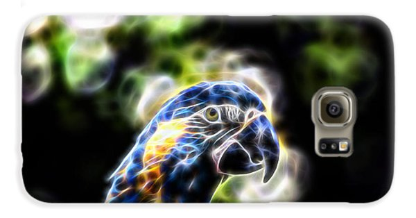 Blue And Gold Macaw V4 Galaxy S6 Case by Douglas Barnard