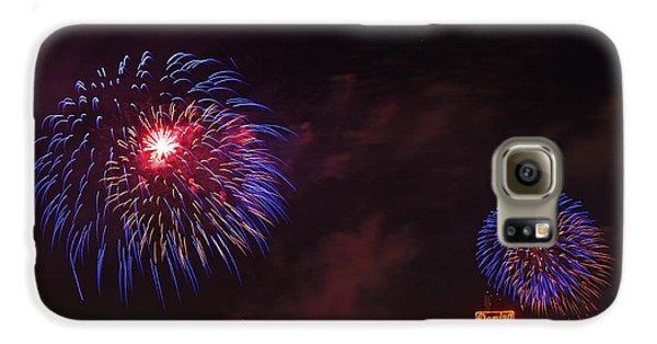 Blue Fireworks Over Domino Sugar Galaxy S6 Case