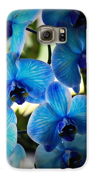 Orchid Galaxy S6 Case - Blue Monday by Mandy Shupp