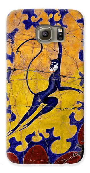Bogdanoff Galaxy S6 Case - Blue Monkey No. 13 by Steve Bogdanoff