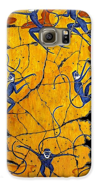 Bogdanoff Galaxy S6 Case - Blue Monkeys No. 41 by Steve Bogdanoff