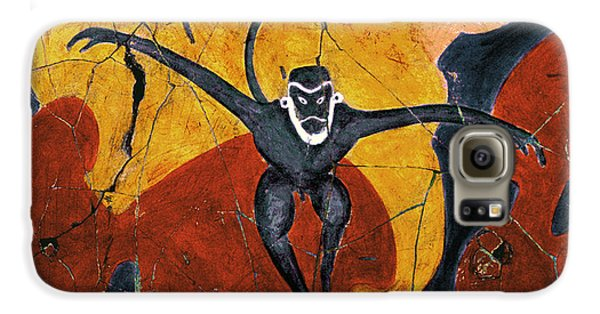 Bogdanoff Galaxy S6 Case - Blue Monkeys No. 8 - Study No. 3 by Steve Bogdanoff