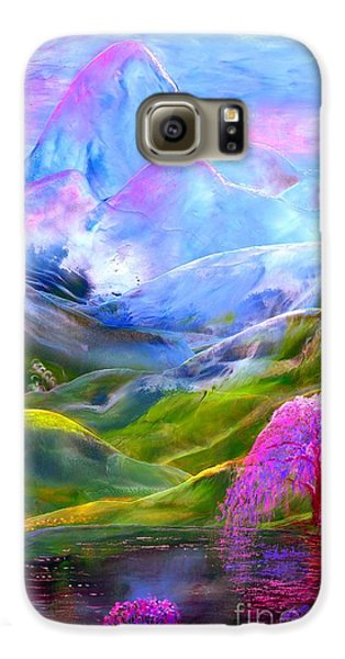 Orchid Galaxy S6 Case - Blue Mountain Pool by Jane Small