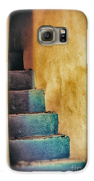 Blue Stairs - Yellow Wall    Galaxy S6 Case by Silvia Ganora