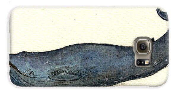 Blue Whale Galaxy S6 Case by Juan  Bosco
