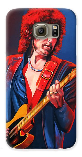 Bob Dylan Painting Galaxy S6 Case by Paul Meijering