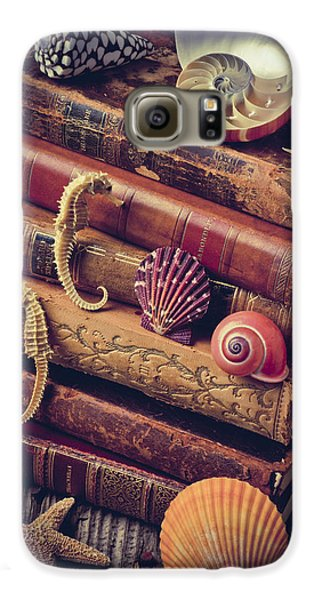 Books And Sea Shells Galaxy S6 Case