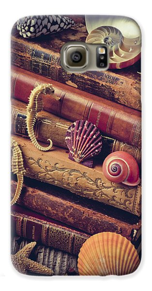 Books And Sea Shells Galaxy S6 Case by Garry Gay