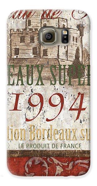 Bordeaux Blanc Label 2 Galaxy S6 Case by Debbie DeWitt