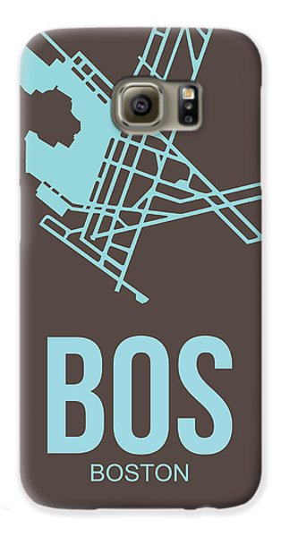 Travel Galaxy S6 Case - Bos Boston Airport Poster 2 by Naxart Studio