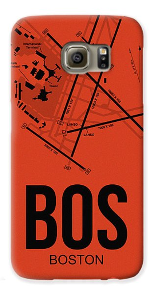 Boston Airport Poster 2 Galaxy S6 Case by Naxart Studio