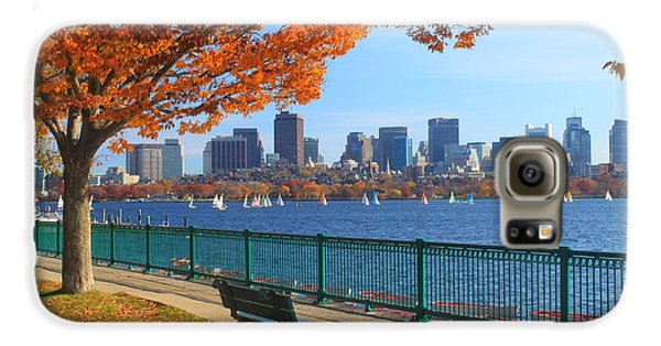 Skylines Galaxy S6 Case - Boston Charles River In Autumn by John Burk
