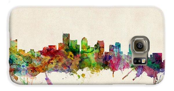 City Scenes Galaxy S6 Case - Boston Skyline by Michael Tompsett