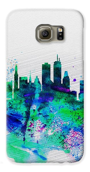 Boston Galaxy S6 Case - Boston Watercolor Skyline by Naxart Studio