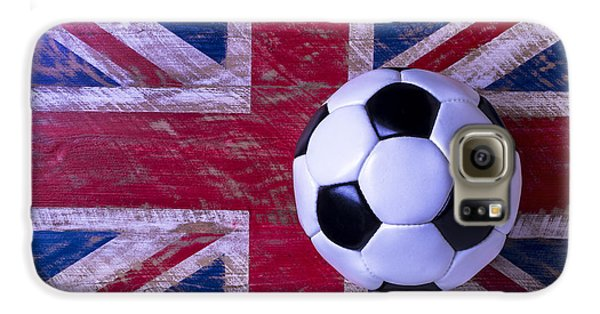 British Flag And Soccer Ball Galaxy S6 Case