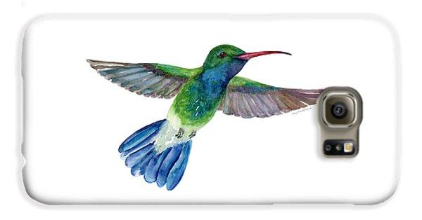 Broadbilled Fan Tail Hummingbird Galaxy S6 Case by Amy Kirkpatrick