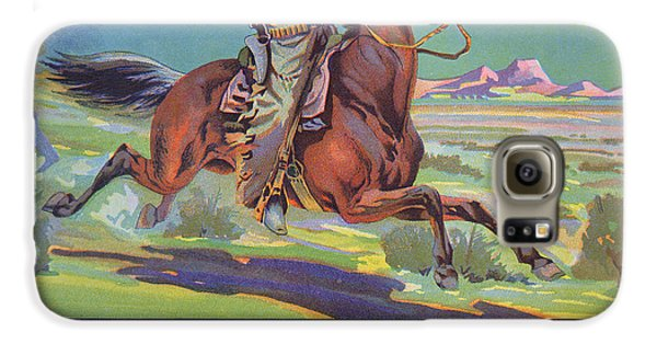 Horse Galaxy S6 Case - Bronco Oranges by American School