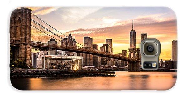 Brooklyn Bridge Galaxy S6 Case - Brooklyn Bridge At Sunset  by Mihai Andritoiu