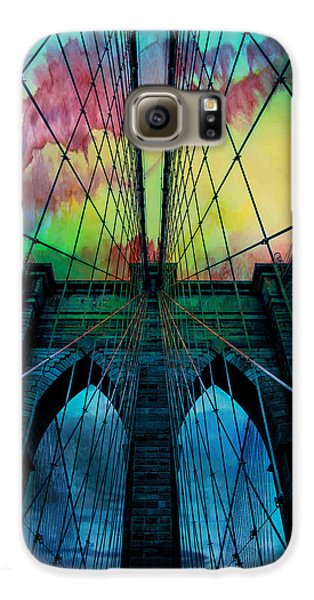 City Scenes Galaxy S6 Case - Psychedelic Skies by Az Jackson