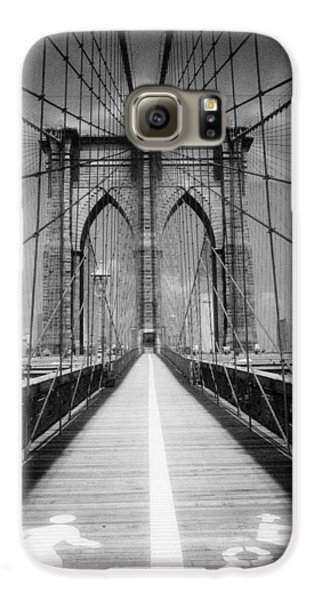 Brooklyn Bridge Infrared Galaxy S6 Case by Dave Beckerman