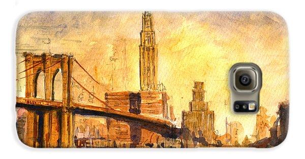Brooklyn Bridge Galaxy S6 Case - Brooklyn Bridge New York by Juan  Bosco
