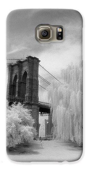 Brooklyn Bridge Willows Galaxy S6 Case by Dave Beckerman
