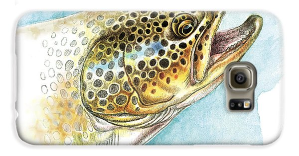 Brown Trout Study Galaxy S6 Case by JQ Licensing