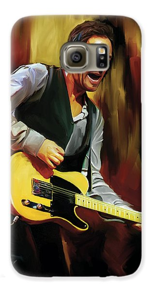 Bruce Springsteen Artwork Galaxy S6 Case by Sheraz A
