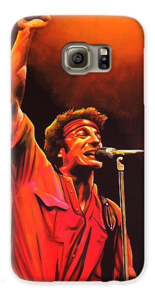 Bruce Springsteen Painting Galaxy S6 Case by Paul Meijering