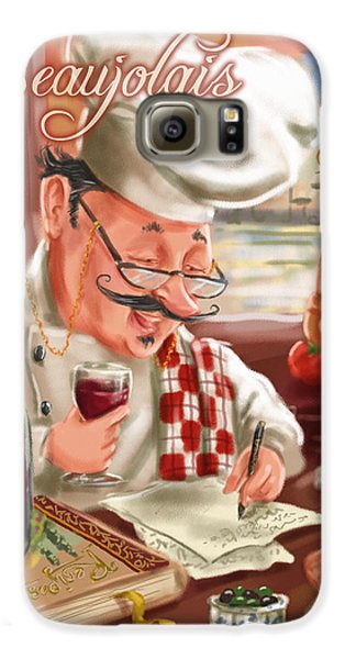 Busy Chef With Beaujolais Galaxy S6 Case