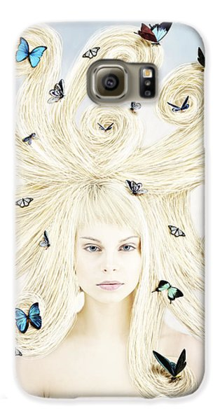 Butterfly Girl Galaxy S6 Case by Linda Lees