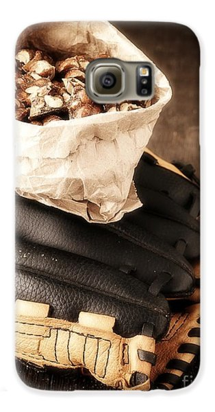 Baseball Gloves Galaxy S6 Case - Buy Me Some Peanuts And Cracker Jack by Edward Fielding
