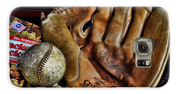 Baseball Gloves Galaxy S6 Case - Buy Me Some Peanuts And Cracker Jacks by Ken Smith