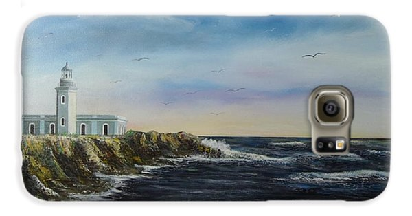 Cabo Rojo Lighthouse Galaxy S6 Case by Tony Rodriguez