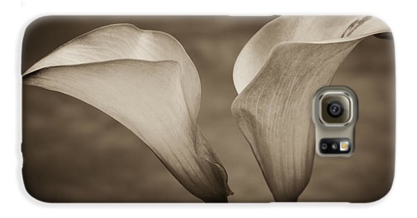 Galaxy S6 Case featuring the photograph Calla Lilies In Sepia by Sebastian Musial